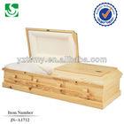 wholesale American style casket pine wood