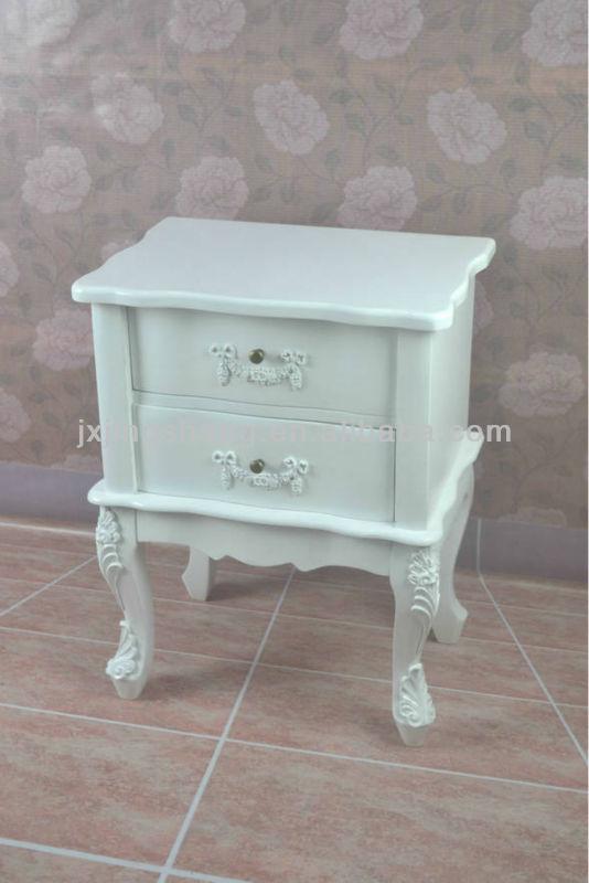 Branco 3 gaveta acabamento brilhante branco mesa de cabeceira de cabeceira