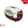 Pequeño plástico gato jaula, Del animal doméstico carrie con alimentación tazón