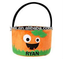Personalized Goofy Goblin Halloween Pumpkin Treat Bag