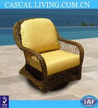 modern design swivel glider chair