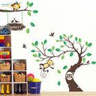 ZY1207 ZooYoo Original XXL 305*145 cm Monkey Tree Wall Art Stickers Kids Nursery Vinyl Decal Removable Decor Decals Home Mural