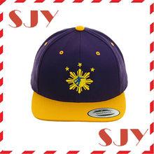 flat brim snapback hat embroidery caps snap back cap