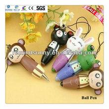 Promotional Mini Cartoon Wooden Ballpoint Pen