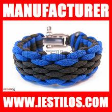 2013 lastest design wholesale handmade stainless steel 550 paracord bracelet buckle