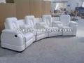 Agradable salón de cuero blanco silla reclinable eléctrico sofás( del ya- ls311)