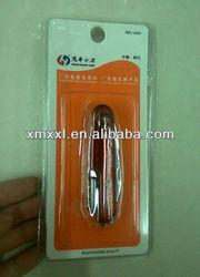 red pocket knife plastic packaging