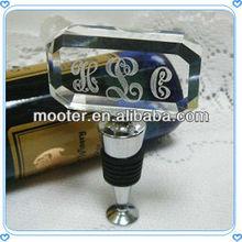 Easy Handle Rectangle Crystal Bottle Stopper For Bottle Stopper Of Syringe, Crystal Bottle Stopper