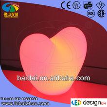 LED illuminated plastic heart light wholesale for decoration