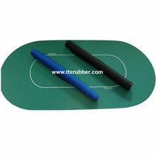 customized poker table mat,non-slip rubber backing poker mat