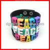 new hot sale DIY silicone PEACE friendship bracelet 2013