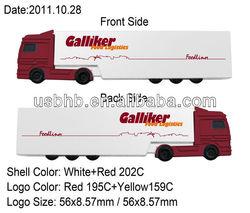 Custom pvc truck shape usb factory direct selling