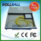 Rack mount 2*8 fiber optic audio plc splitter