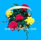 handicraft bamboo flower basket