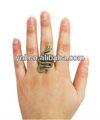 bling brilhante slithering ouro anel de cobra