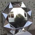 Buena calidad Veneciano espejo de pared para el hogar y decoración con Triple Marco círculos