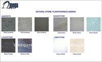 Various Color Non-Slip Bali Indonesia Natural Stone Exterior Tiles