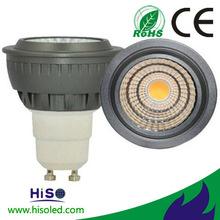 2013 hot selling and New item osram cob led gu10 5w spotlight with CE and ROHS certificates
