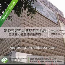 BST Textured exterior wall design, plastic exterior wall decorative panel