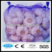fresh garlic in mesh bag pp woven drawstring