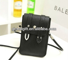 PU knit mobile phone bag