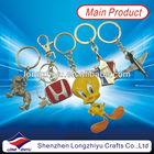 Cheap metal keychains wholesale 3D no minimum custom keychains