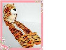 fake fur tiger hat with long paws faux fur animal hat cartoon hat