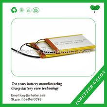 CE/UL facroty sale 3.7v lithium ion battery sodium impurity dendrites