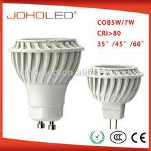 high CRI>80 TCP body osram cob led gu10 5w spotlight