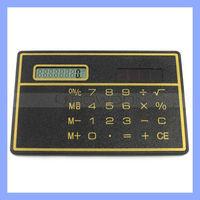Mini Slim Card Solar Power Pocket Calculator For Promotion