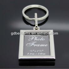 custom metal photo frame key chain
