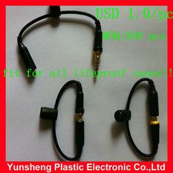 new earphone adapter & earphone headphone plug for waterproof case Lifeproofing Case, life proof
