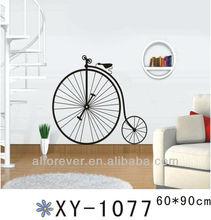 one wheel bike wall sticker home decor