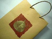 Skeleton Leaves Embellished Handmade Paper Bags