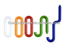 novelty spirex pen, plastic promotional transformation pen