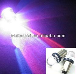 Super! 50pcs/lot RGB Convex BA9S Socket 12V Car/Auto LED Light bulbs