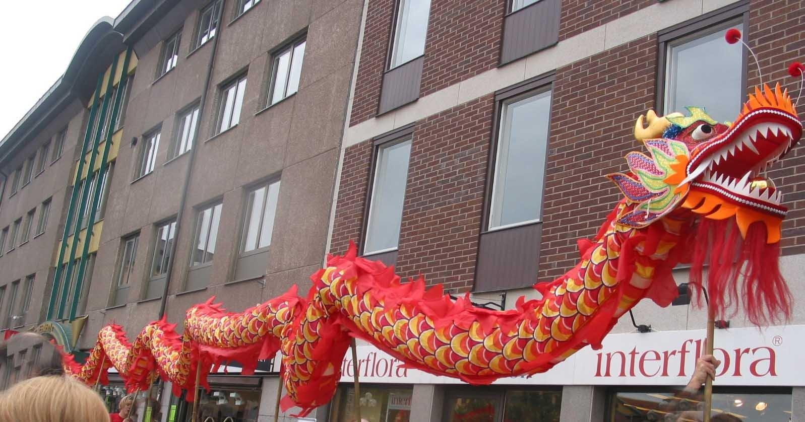Голова дракона как сделать китайский