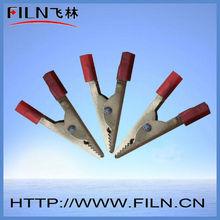 FL2-37 mini 10a copper Alligator test clips 45mm red black
