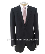 Made In China Executive 2-Button Wool Suit with Center Vent with Pleated Front Trousers Fashionable Men Suit For Fashion MS005