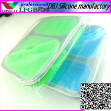 School/Military Silicone Tin Lunch Boxes(FDA, LFGB)