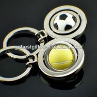 produce spinning football metal key chain
