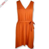 red sleeveless belt ladies prom dresses new fashion dress 2014