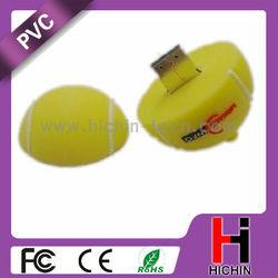 Original style PVC tennis ball shape usb drive pendrive