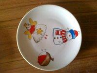 Ceramic plate on stock