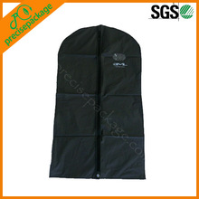 80gsm Non woven foldable garment bag with side zipper button clear pocket(PRG-945)