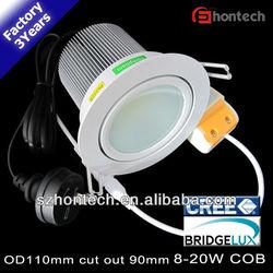 10w 15w ce rohs 3years warranty 90mm cutout led down light lamp