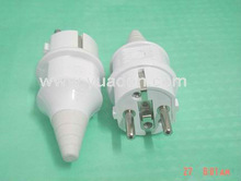 French type single phase 2 round pin straight industrial plug / la prise male industrielle / french plug