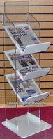 console mode acrylic magazine rack