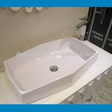 Top Sanitary Above Counter Resin Wash Basin/Composite Resin Stone Wash Basin