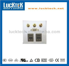 Mutifunctional RCA+VGA+RJ45 wall socket